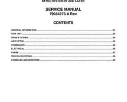AGCO 79034273A Service Manual - 8700 Series Planter (packet)