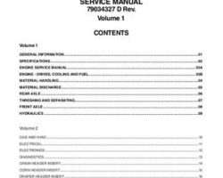 Gleaner 79034326A Service Manual - S67 / S77 Combine (assembly)