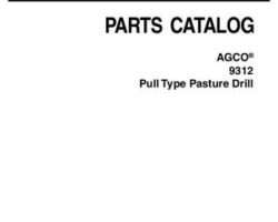 AGCO 79034733B Parts Book - 9312 Pasture Drill (pull-type)