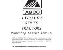 AGCO 79035523A Service Manual - LT70 / LT85 Tractor (assembly)