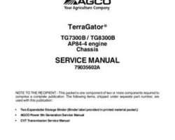Ag-Chem 79035602A Service Manual - TG7300B / TG8300B TerraGator (chassis) (packet)