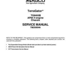 Ag-Chem 79035604A Service Manual - TG8400B TerraGator (chassis, AP98-4 engine) (packet)