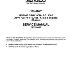 Ag-Chem 79035868A Service Manual - RG900B / RG1100B / RG1300B RoGator (tier 4f chassis) (packet)