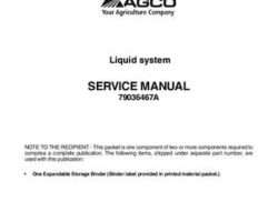 Ag-Chem 79036467A Service Manual - RoGator Liquid System (packet)