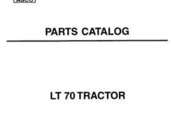 AGCO 819925M3 Parts Book - LT70 Tractor