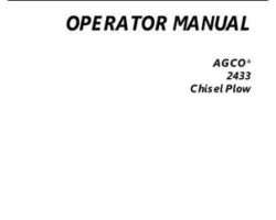 AGCO 997345ABC Operator Manual - 2433 Chisel Plow