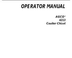 AGCO 997845ABC Operator Manual - 4213 Coulter Chisel