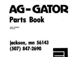 Ag-Chem AG002250 Parts Book - 1004 AgGator (chassis, 1978)