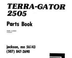Ag-Chem AG002252 Parts Book - 2505 TerraGator (chassis)