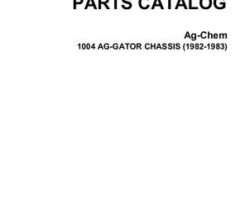 Ag-Chem AG005988C Parts Book - 1004 AgGator (chassis, 1982-83)