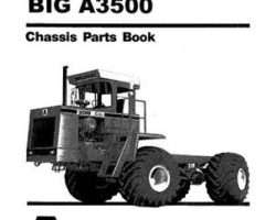 Ag-Chem AG030027 Parts Book - 3500 Big A Applicator (chassis)