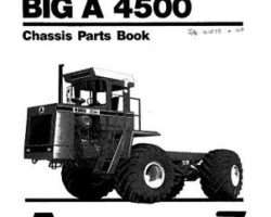 Ag-Chem AG030030 Parts Book - 4500 Big A Applicator (chassis)