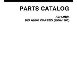 Ag-Chem AG030049B Parts Book - 2600 Big A Applicator (chassis, 3 - wheel)