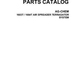 Ag-Chem AG050469C Parts Book - 1603T / 1664T TerraGator (air spreader system)