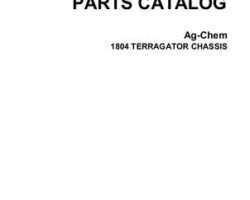 Ag-Chem AG050766A Parts Book - 1804 TerrraGator (chassis)