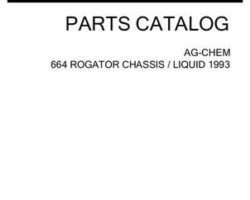 Ag-Chem AG052535C Parts Book - 664 RoGator (chassis / liquid system, 1993)