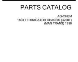 Ag-Chem AG052642D Parts Book - 1803 TerraGator (chassis, Cat 3208T, manual trans., 1996)