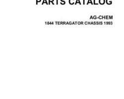Ag-Chem AG052864C Parts Book - 1844 TerraGator (chassis, 1993)