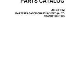 Ag-Chem AG053005C Parts Book - 1844 TerraGator (chassis, Cat 3208T, auto, 1994-95)