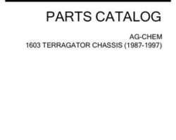 Ag-Chem AG053238D Parts Book - 1603 TerraGator (chassis, 1987-97)