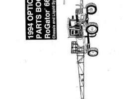 Ag-Chem AG053284 Parts Book - 664 RoGator Options (chassis & liquid system, 1994)