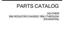 Ag-Chem AG053285C Parts Book - 664 RoGator (chassis, prior sn 6404714, 1994)