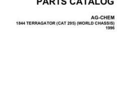 Ag-Chem AG053322C Parts Book - 1844 TerraGator (world chassis, 1996)