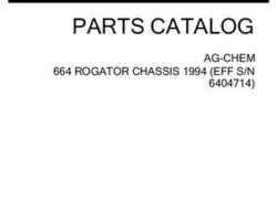 Ag-Chem AG053358C Parts Book - 664 RoGator (chassis, eff sn 6404714, 1994)