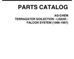 Ag-Chem AG053429C Parts Book - Soilection / Liquid / Falcon TerraGator (systems, 1996-97)