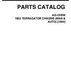 Ag-Chem AG053453B Parts Book - 1803 TerraGator (chassis, man & auto, 1994)