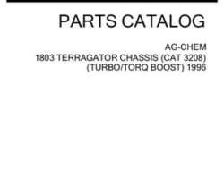 Ag-Chem AG053703J Parts Book - 1803 TerraGator (chassis, Cat 3208T, Torq Boost, 1996)