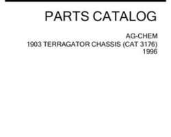 Ag-Chem AG053868E Parts Book - 1903 TerraGator (chassis, Cat 3176, 1996)