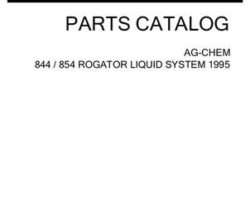 Ag-Chem AG053870D Parts Book - 844 / 854 RoGator (liquid system, 1995)
