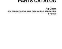 Ag-Chem AG054145B Parts Book - 004 TerraGator (side discharge spreader sys. Knight Box)