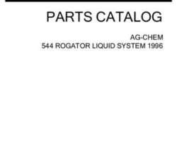 Ag-Chem AG054484C Parts Book - 544 RoGator (liquid system, 1996)
