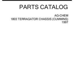 Ag-Chem AG055261D Parts Book - 1803 TerraGator (chassis, Cummins engine, 1997)