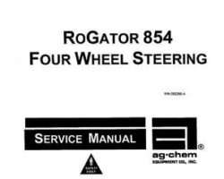 Ag-Chem AG055268 Service Manual - 854 RoGator (4 wheel steer)