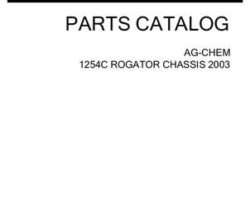 Ag-Chem AG121386D Parts Book - 1254C RoGator (chassis, eff sn Mxxx1001, 2003)