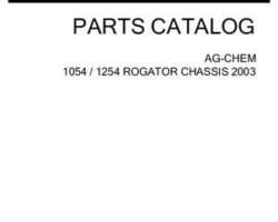 Ag-Chem AG121387C Parts Book - 1054 / 1254 RoGator (chassis, eff sn Mxxx1001, 2003)