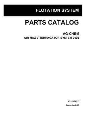 Ag-Chem AG128696D Parts Book - Air Max 5 TerraGator (system, eff sn Pxxx1001, 2005)
