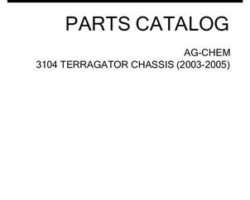Ag-Chem AG138087J Parts Book - 3104 TerraGator (chassis, eff sn Mxxx1001, 2003)