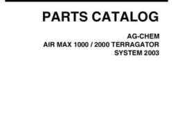 Ag-Chem AG138088D Parts Book - 1000 / 2000 Air Max TerraGator (system, eff sn Mxxx1001, 2003)