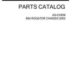 Ag-Chem AG138104F Parts Book - 864 RoGator (chassis, eff sn Mxxx1001, 2003)