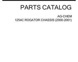 Ag-Chem AG144239D Parts Book - 1254C RoGator (chassis, eff 2000-01)