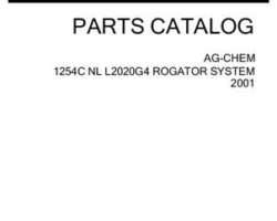 Ag-Chem AG144246D Parts Book - L2020G4 RoGator (1254C liquid system, 2001)