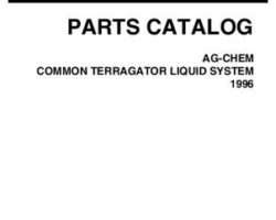 Ag-Chem AG521341Q Parts Book - TerraGator (common liquid system, 1996)