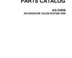 Ag-Chem AG546179C Parts Book - 854 RoGator (Talon system, 1998)