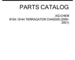 Ag-Chem AG546353N Parts Book - 8104 / 8144 TerraGator (chassis, 2000-01)
