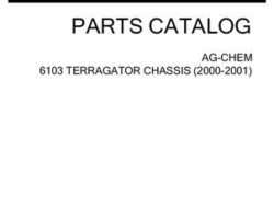 Ag-Chem AG546469G Parts Book - 6103 TerraGator (chassis, 2000-01)