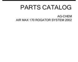 Ag-Chem AG546601D Parts Book - 170 Air Max RoGator (system, 2002)